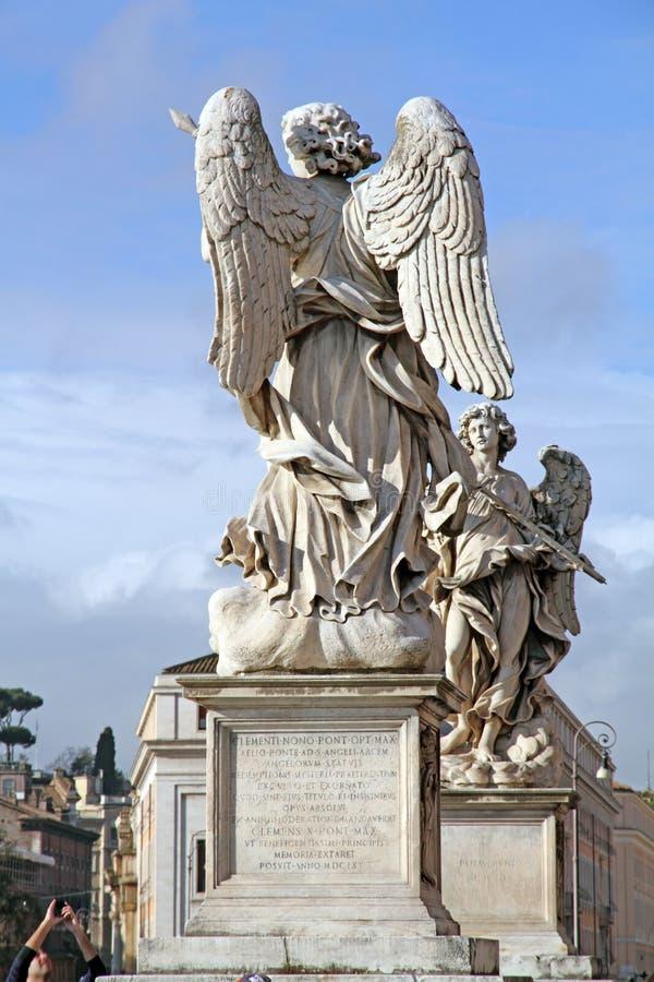 Ponte de Sant Angelo, Roma, Lazio, Itália, Europa imagens de stock
