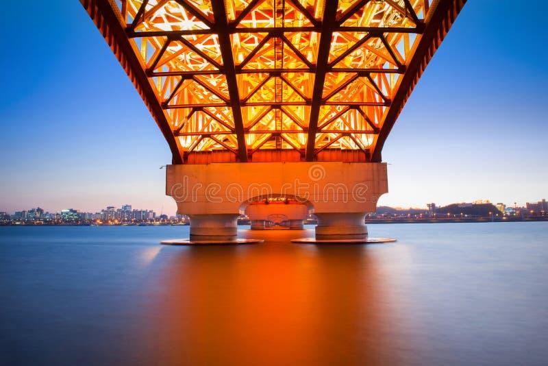 Ponte de Seongsan em Coreia fotos de stock royalty free