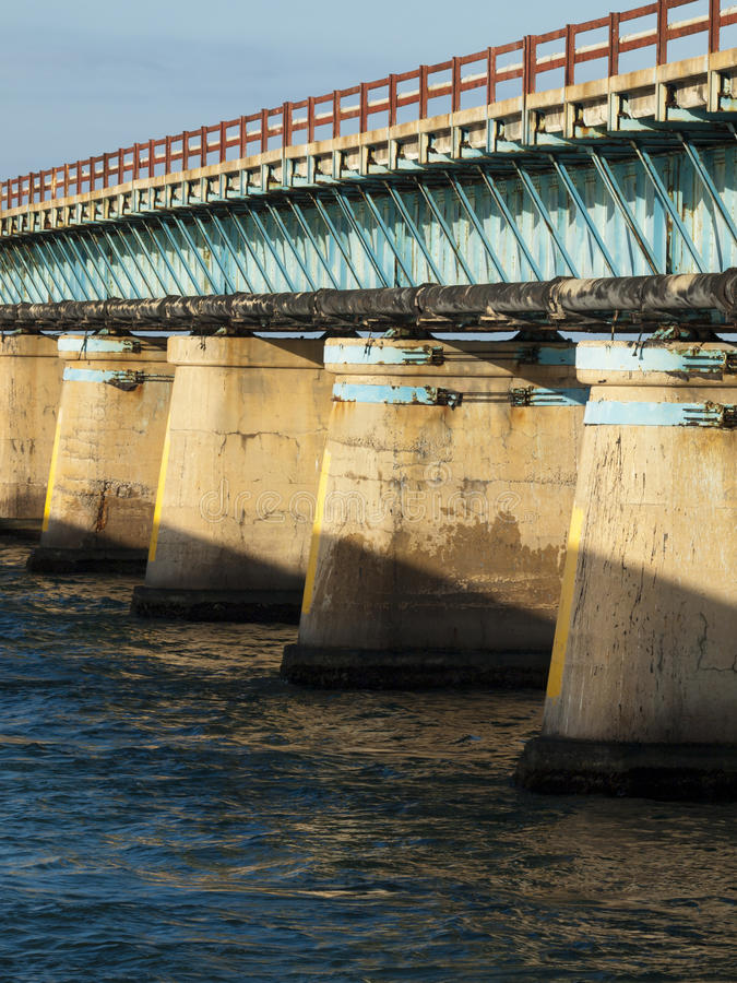 Ponte de sete milhas fotografia de stock