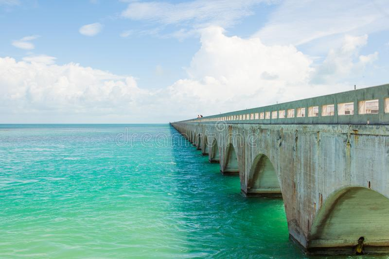 Ponte de sete milhas em chaves de Florida fotografia de stock