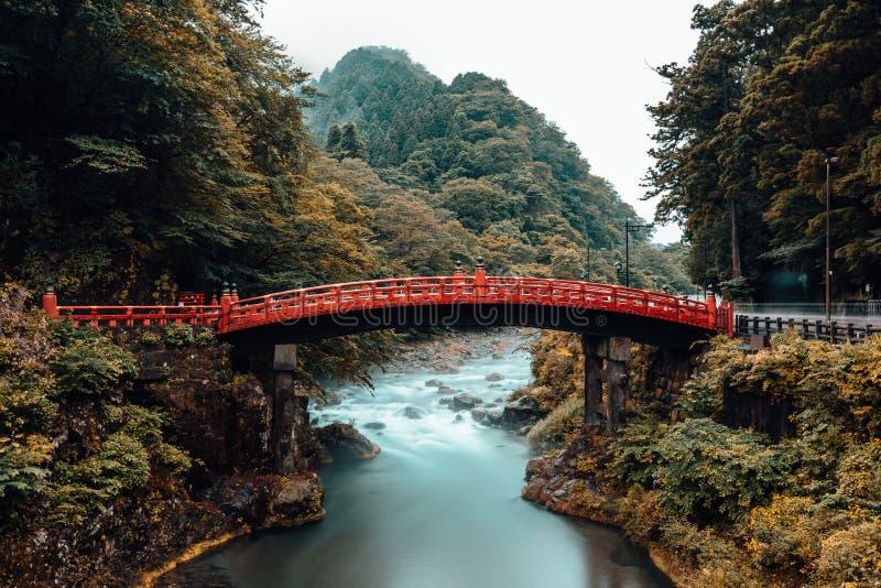 Ponte de Shinkyo em Nikko Japão fotos de stock royalty free