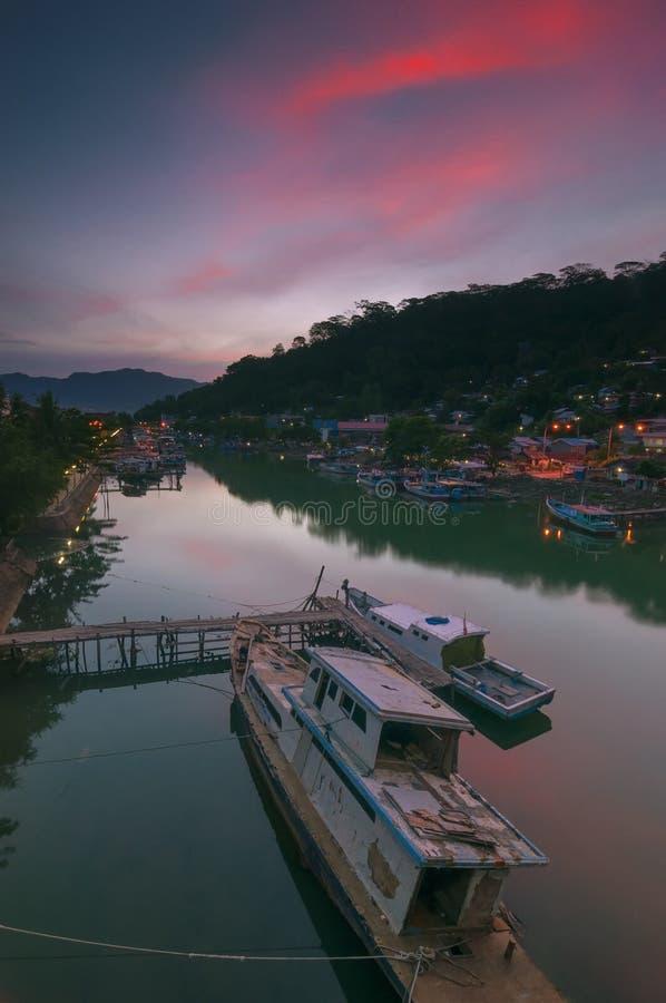 Ponte de Siti Nurbaya, Padang Sumatra ocidental imagem de stock royalty free