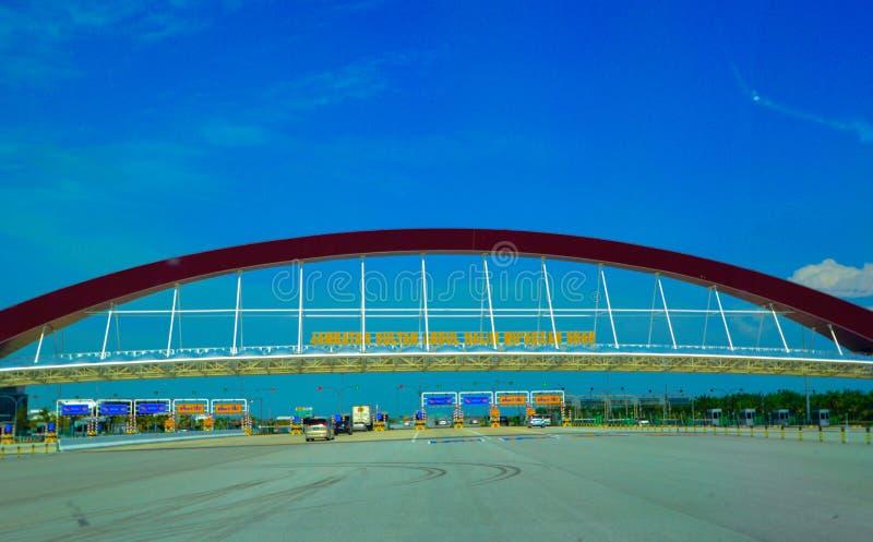 A ponte de Sultan Abdul Halim Muadzam Shah Bridge ou de Penang segundo, Penang, Malásia imagem de stock royalty free