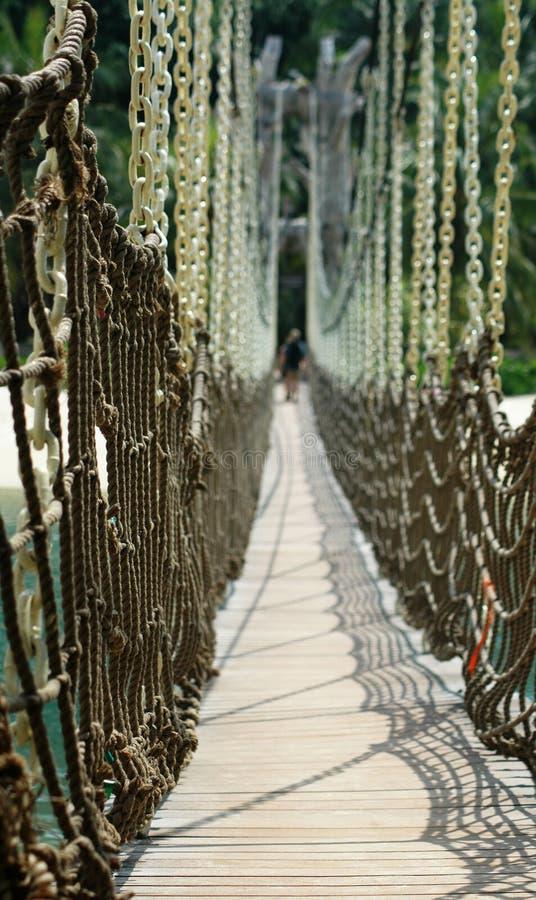 Download Ponte de suspensão imagem de stock. Imagem de destiny, wooden - 108267