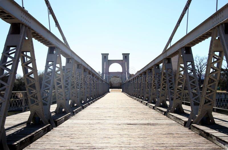Ponte de suspensão de Waco fotos de stock royalty free