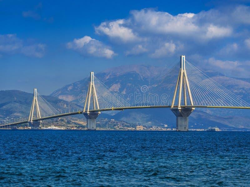 Ponte de suspensão, Patra, Grécia foto de stock