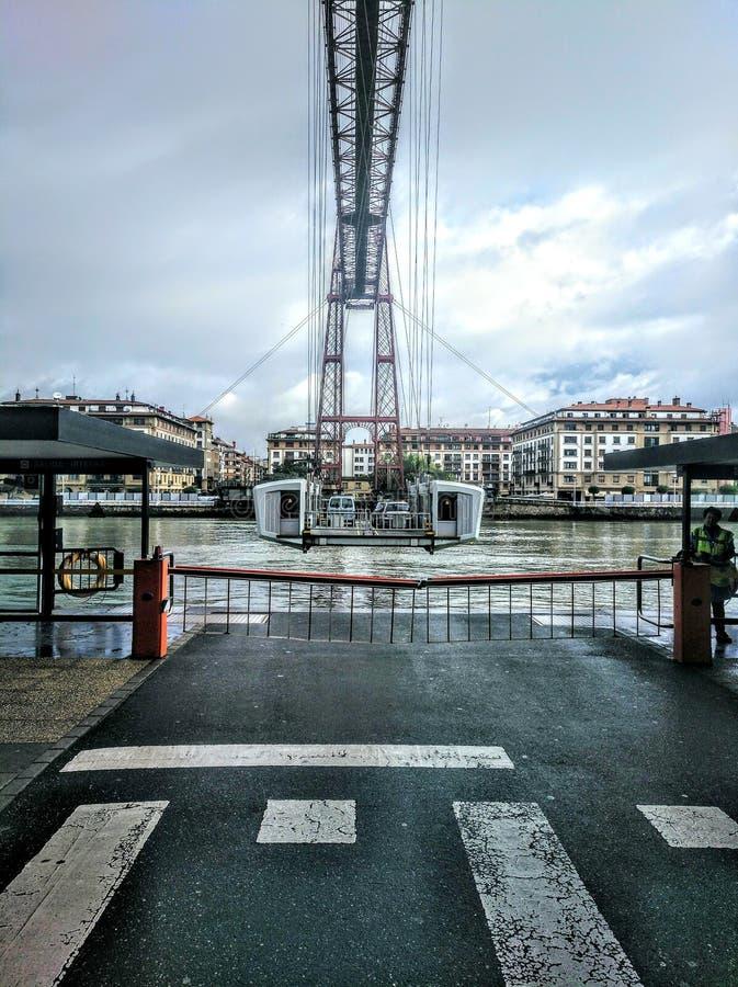 A ponte de suspensão de vizcaya imagem de stock