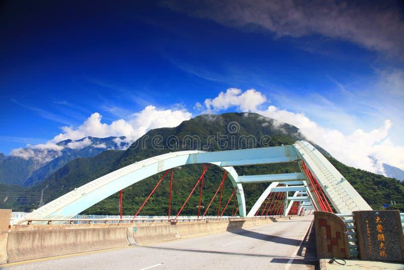 Ponte de Taroko em Hualien, Taiwan foto de stock