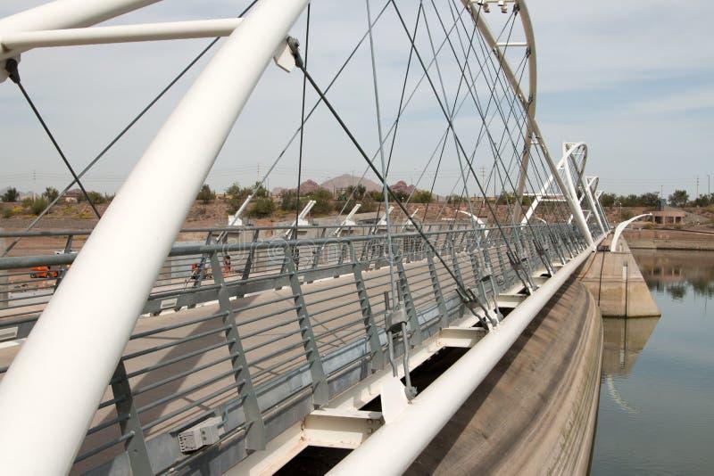 Ponte de Tempe Town Lake Dam Walking imagem de stock royalty free