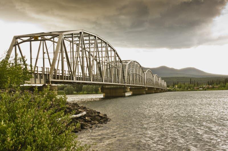 Ponte de Teslin imagem de stock
