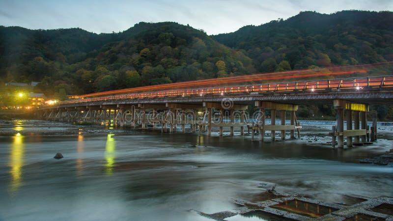 Ponte de Togetsukyo e Katsura River, Arashiyama fotografia de stock royalty free
