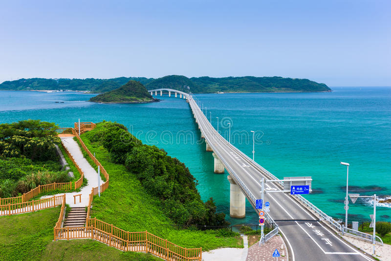 Ponte de Tsunoshima Ohashi fotografia de stock