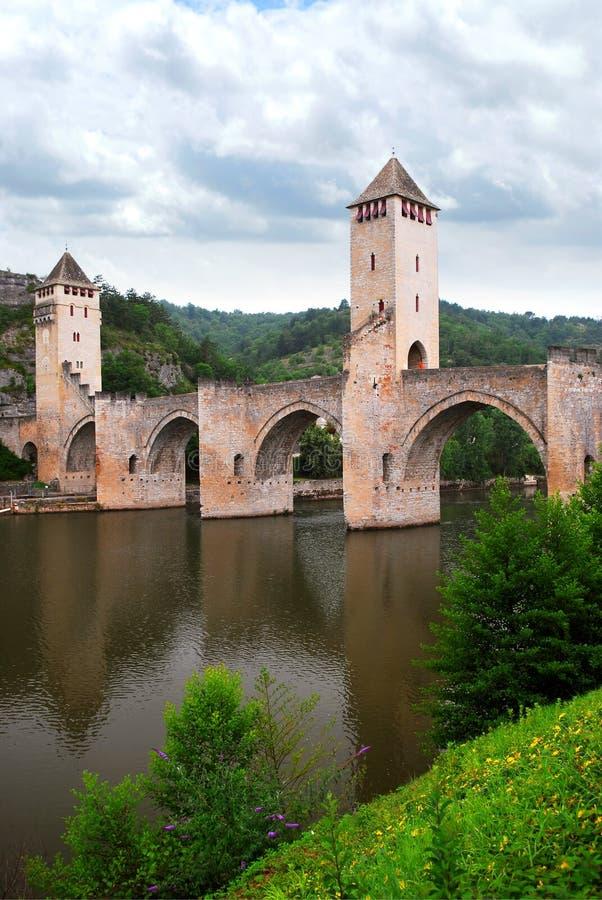 Ponte de Valentre em Cahors France fotos de stock
