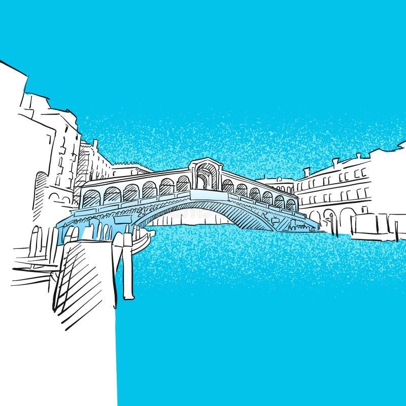 Ponte de Veneza Rialto ilustração royalty free
