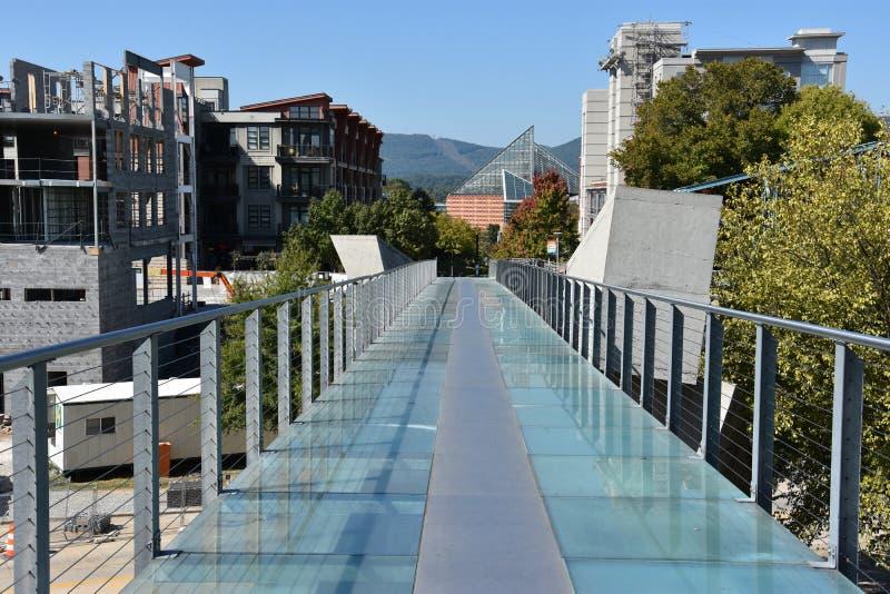 Ponte de vidro em Chattanooga, Tennessee fotos de stock royalty free