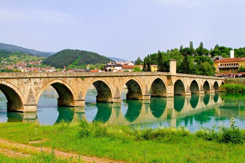 Ponte de Visegrad fotografia de stock royalty free