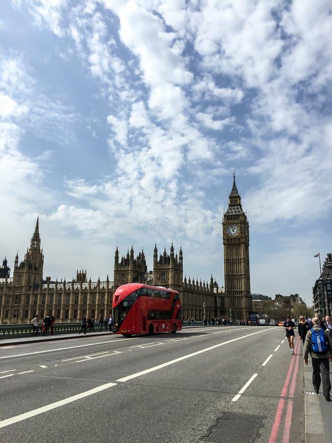 Ponte de Westminster e Big Ben, Londres, Reino Unido imagens de stock