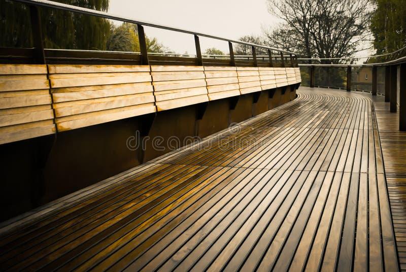 Ponte decked de madeira fotografia de stock