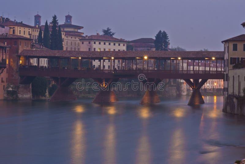 Ponte Degli Alpini i Bassano Del Grappa, Italien royaltyfri foto