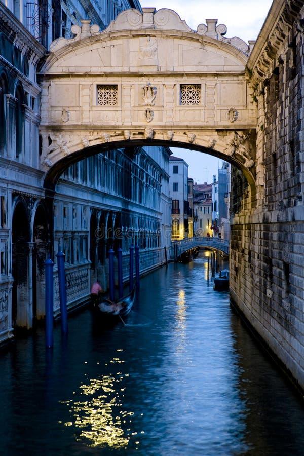 Ponte dei叹气威尼斯意大利Sospiri桥梁  库存图片