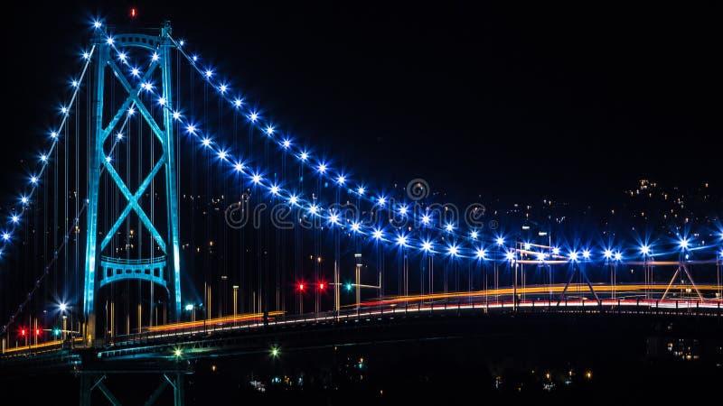 Ponte dei leoni - Vancouver, BC fotografia stock libera da diritti