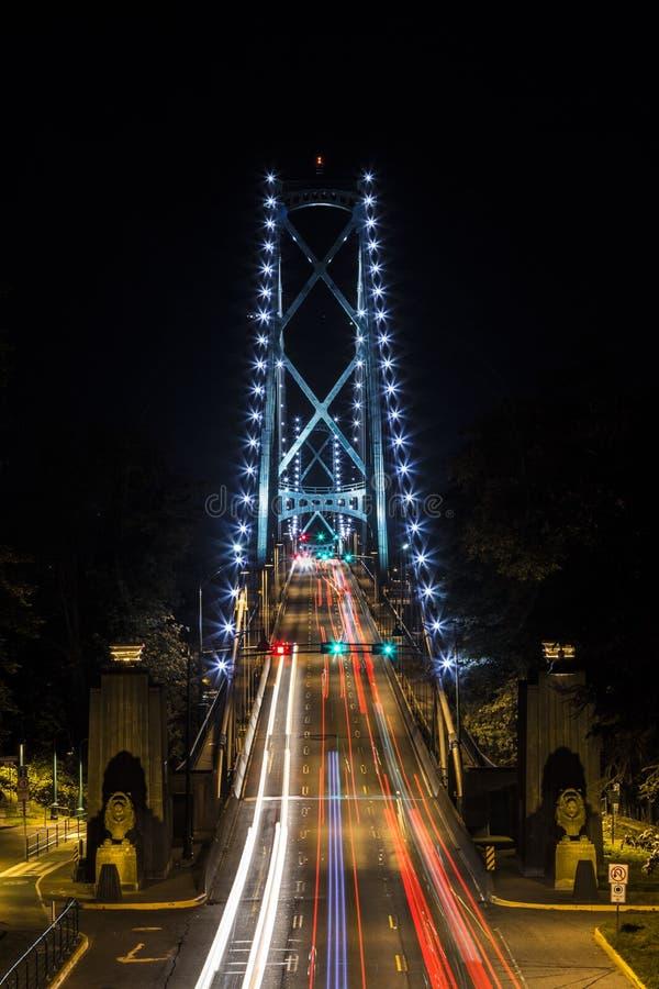 Ponte dei leoni - Vancouver, BC immagine stock libera da diritti