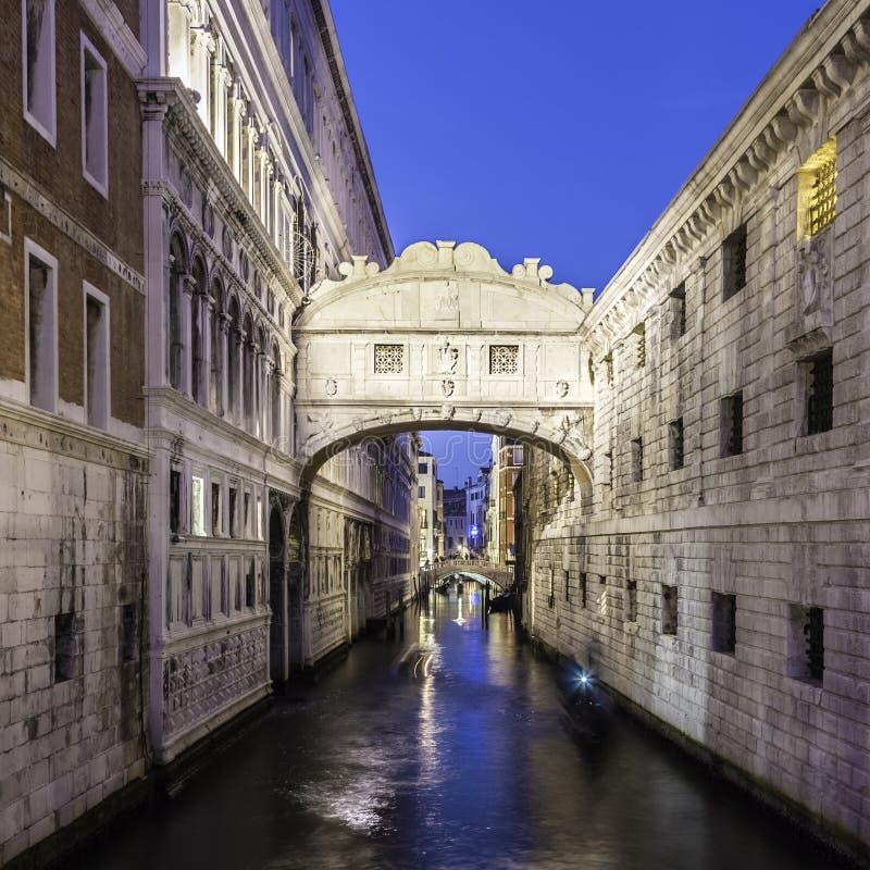 Ponte dei sospiri, Venezia, Italia fotografia stock libera da diritti