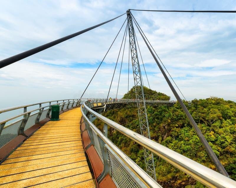 Ponte del cielo di Langkawi in Malesia fotografie stock libere da diritti