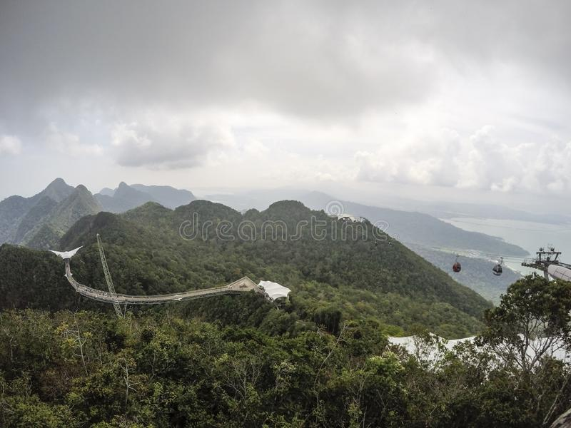 Ponte del cielo di Langkawi fotografia stock libera da diritti