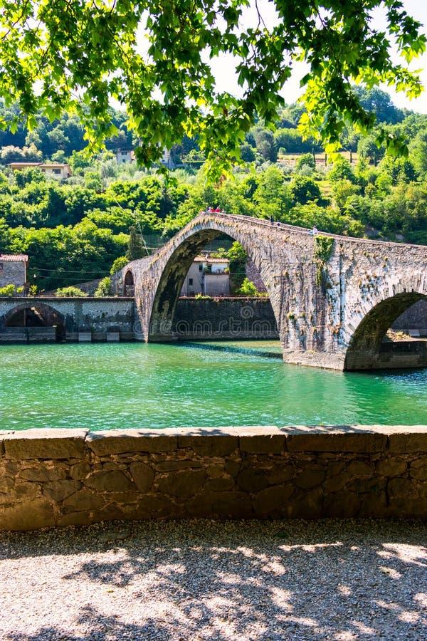 Ponte del Diavolo, Italien, Europa royaltyfria foton