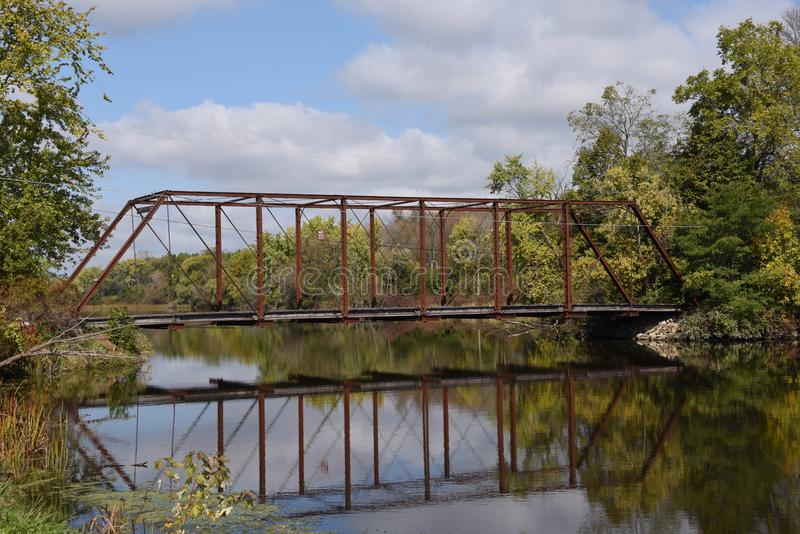 Ponte del fiume White fotografia stock