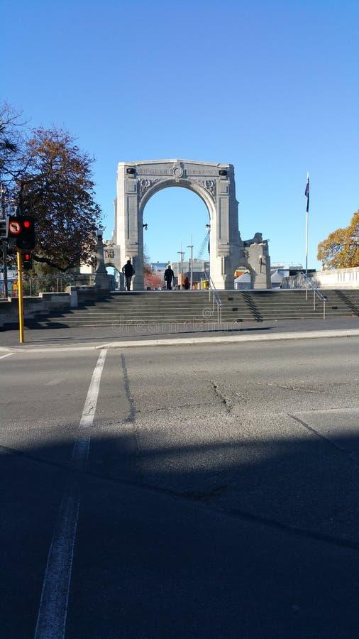 Ponte del memoriale di Christchurch immagini stock libere da diritti