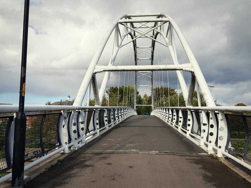 Ponte del metallo a Cheltenham, Regno Unito immagini stock