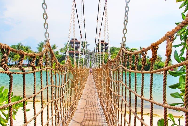 ponte del ponte sull'isola di Sentosa immagine stock