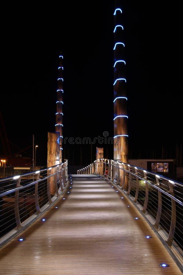 Ponte del porto fotografia stock libera da diritti