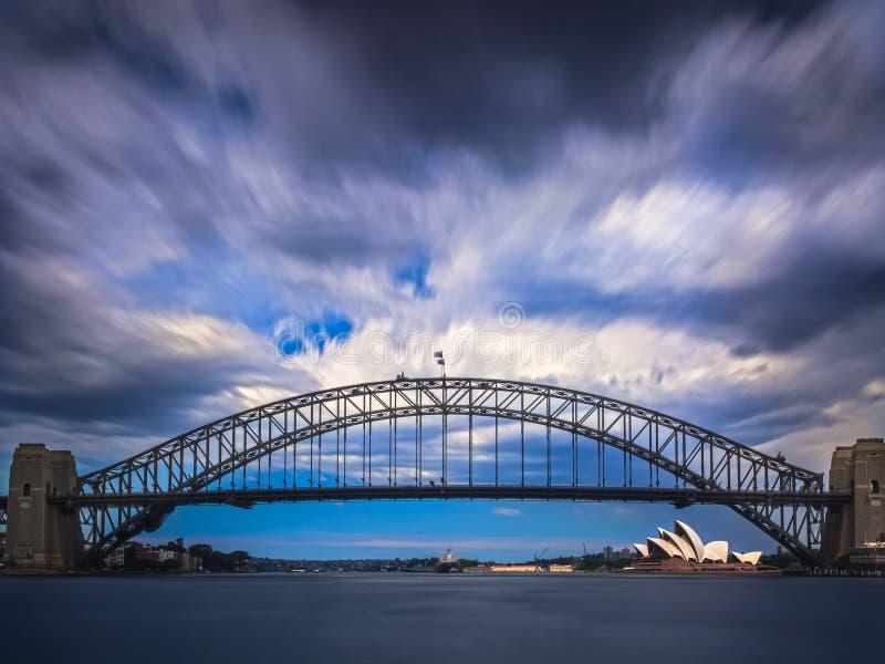 Ponte del porto immagini stock