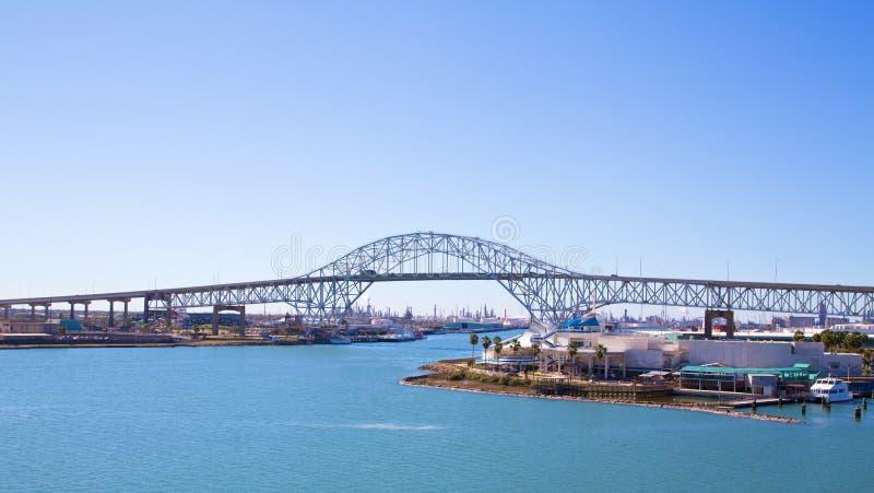 Ponte del porto in Corpus Christi fotografia stock libera da diritti