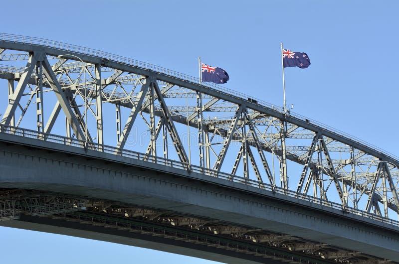 Ponte del porto di Auckland - Nuova Zelanda fotografia stock