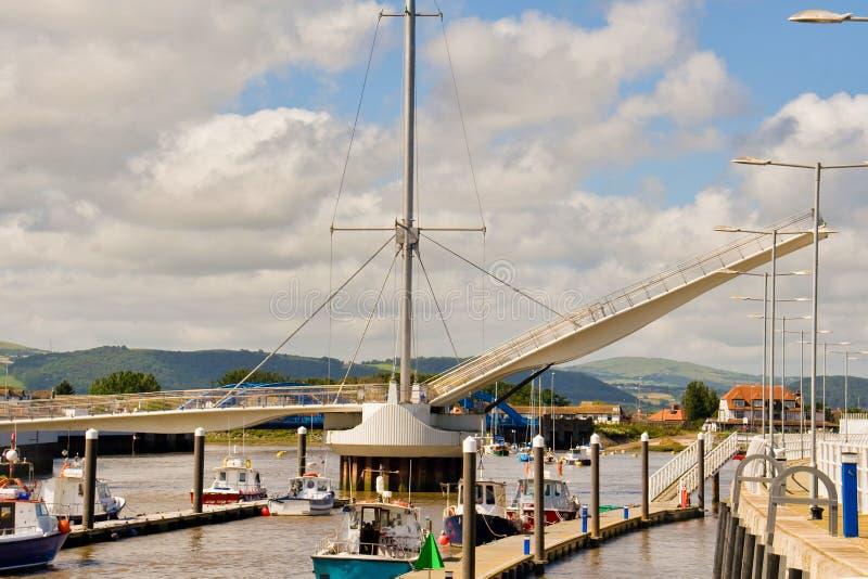 Ponte del porto di Rhyl fotografie stock
