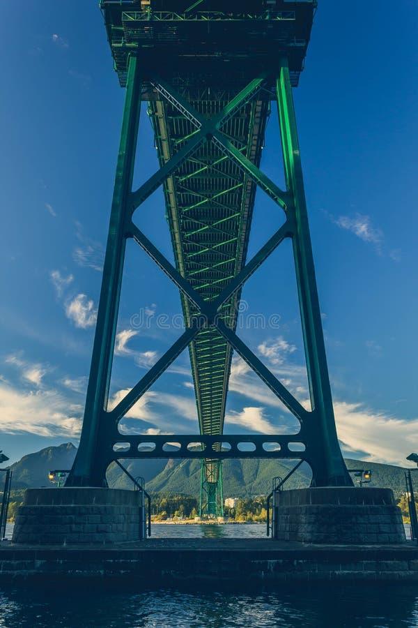 Ponte del portone dei leoni immagine stock