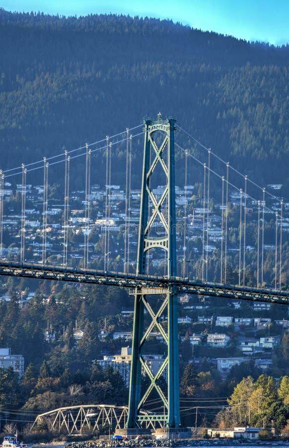 Ponte del portone dei leoni - Vancouver fotografia stock libera da diritti