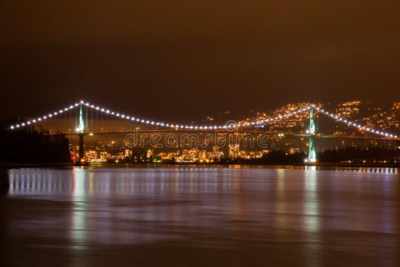 Ponte del portone dei leoni a Vancouver fotografie stock libere da diritti