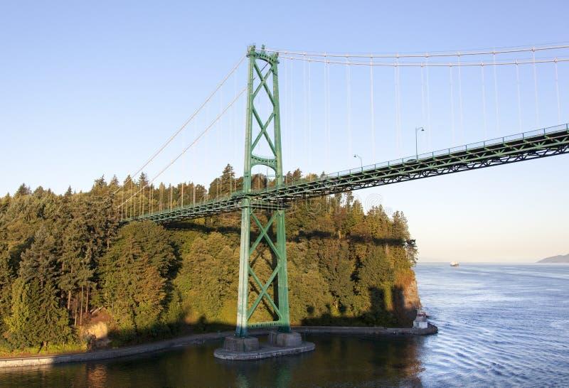 Ponte del portone del ` s del leone di Vancouver fotografia stock