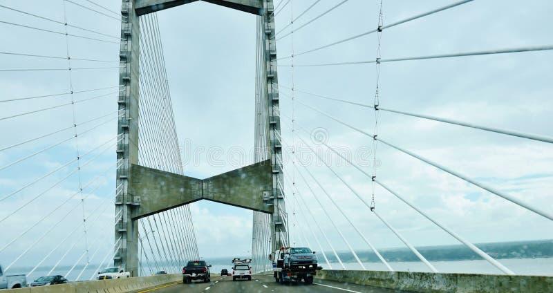 Ponte del punto di Dame di Jacksonville S.U.A. dello stato di Florida fotografia stock libera da diritti