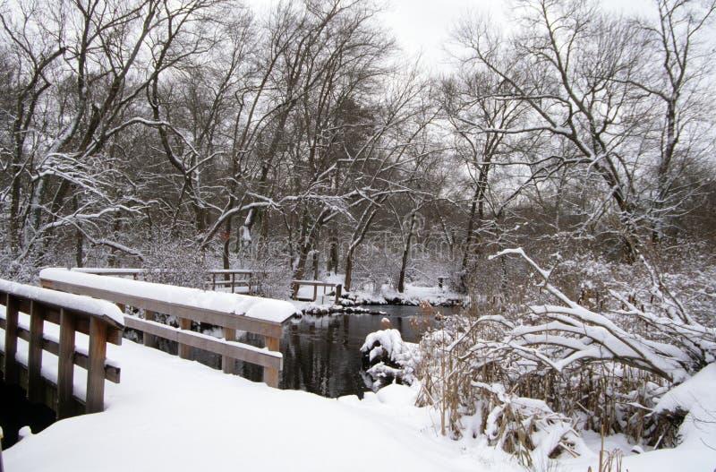 Ponte del ` s di Bunce, la contea di Suffolk, NY immagine stock