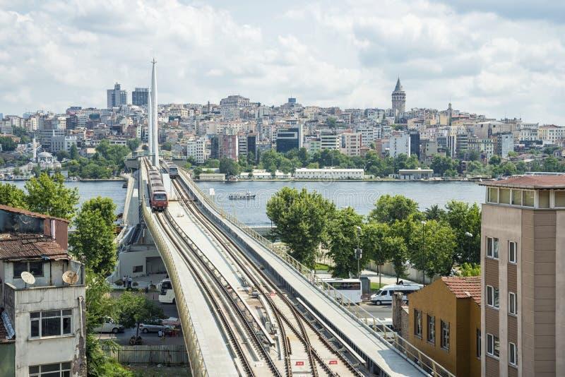 Ponte del sottopassaggio di Costantinopoli fotografia stock