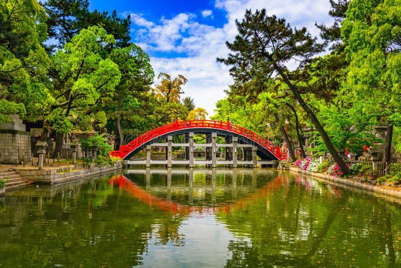 Ponte del tamburo a Osaka fotografia stock