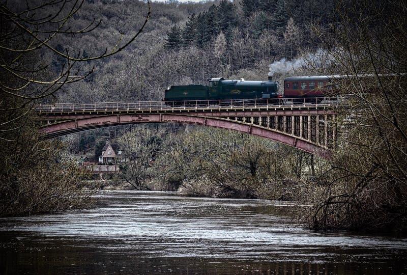 Ponte del treno fotografie stock