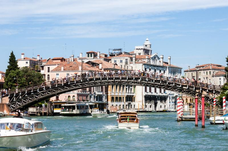 Ponte dell`Accademia royalty free stock photography