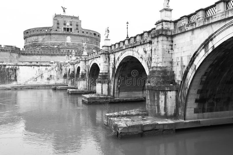 Ponte dell'angelo della st e castello dell'angelo santo immagine stock libera da diritti